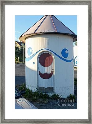 Husavik Iceland Funny Building Framed Print by Gregory Dyer