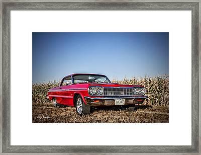 Husker Red Framed Print