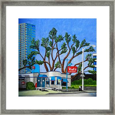 Hut's Hamburgers Austin Texas. 2012 Framed Print