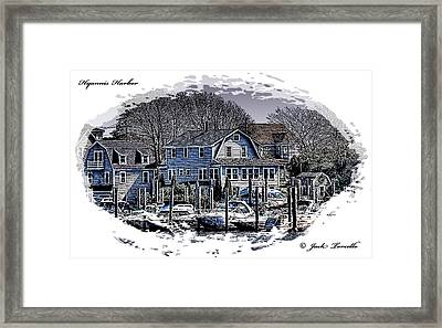 Framed Print featuring the photograph Hyannis Harbor Greetings by Jack Torcello