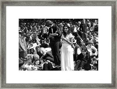 Hyde Park Hippies Framed Print by Evening Standard