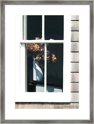 Hydrangea On The Vineyard Framed Print by Michelle Wiarda