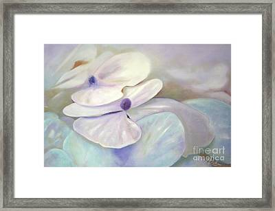 Framed Print featuring the painting Hydrangea Petals by Michael Rock