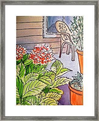 Hydrangea Sketchbook Project Down My Street Framed Print