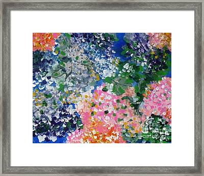 Framed Print featuring the painting Hydrangeas I by Alys Caviness-Gober