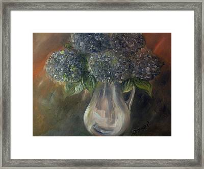 Hydrangeas Framed Print by Raymond Doward