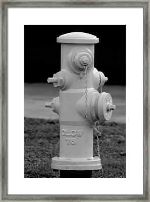 Hydrant Framed Print by Elizabeth  Doran