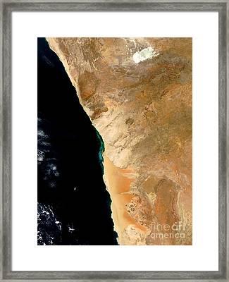 Hydrogen Sulfide Eruption Off Namibia Framed Print by Nasa
