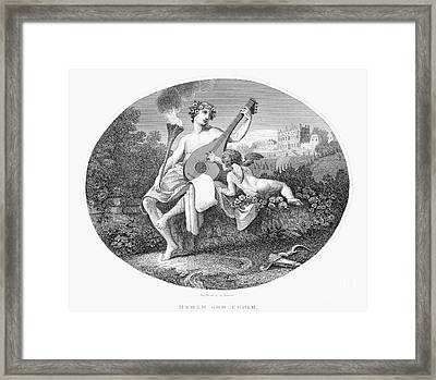 Hymen And Cupid Framed Print