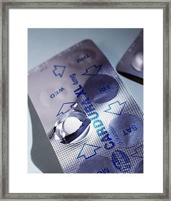 Hypertension Tablets Framed Print by Tek Image