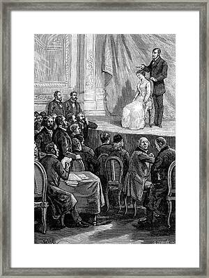 Hypnosis Demonstration, 19th Century Framed Print