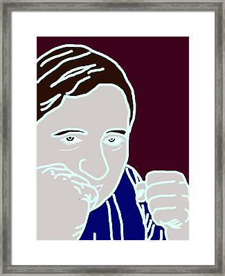 Framed Print featuring the digital art I Am A Fighter by Ester  Rogers