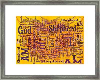 I Am Shepherd 2 Framed Print by Angelina Vick