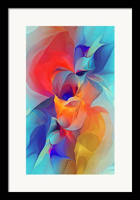 Gladiolas Digital Art Framed Prints