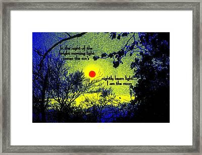 I Am The Moon Framed Print