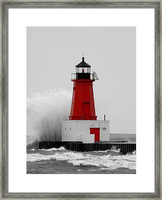 I Can Weather The Storm Framed Print