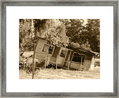 I Can't See Her Boots Framed Print by Kym Backland
