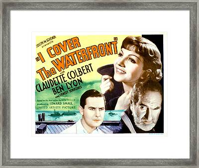 I Cover The Waterfront, Ben Lyon Framed Print by Everett