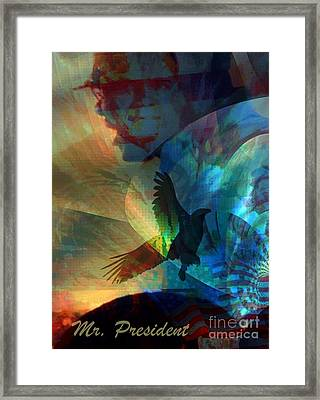 I Cry Mr. President Framed Print by Fania Simon