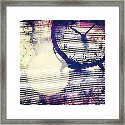 I Do Stuff On My Phone. It Takes Time Framed Print