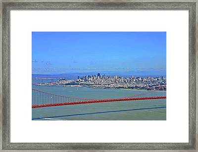 Framed Print featuring the photograph I Don't See No Stinkin' Fog Golden Gate San Francisco California by Duncan Pearson