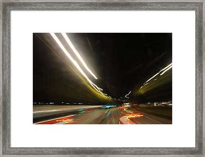 I Dreamed Of Driving At Night Framed Print by George Crawford
