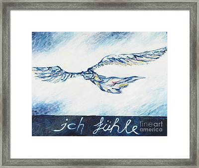 I Feel - Ich Fuehle. Framed Print by Florian Divi