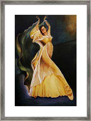 Framed Print featuring the painting I Feel Pretty by Itzhak Richter