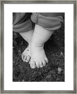 I Feel The Earth...move...under My Feet Framed Print by Elizabeth  Sullivan