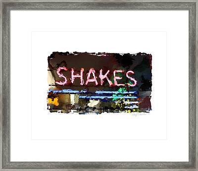I Got The Shakes Framed Print by Geoff Strehlow