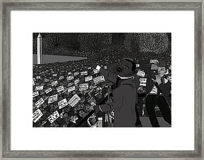 I Have A Dream Black And White Framed Print by Karen Elzinga