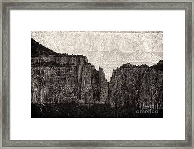 I Have Climbed  A Mountain Framed Print by Venura Herath