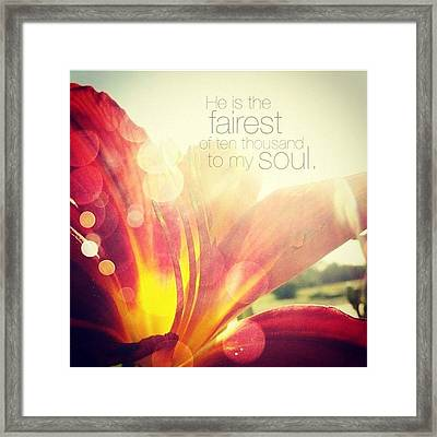 i Have Found A Friend In Jesus Framed Print