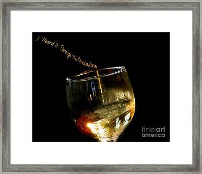 I Heard It Through The Grapevine Framed Print by Linda Galok