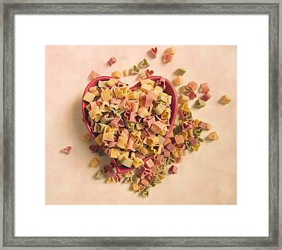 Framed Print featuring the photograph I Heart Pasta by Robin Dickinson