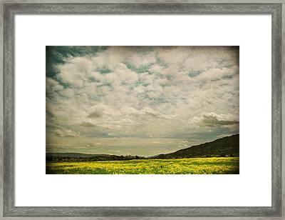 I Just Sat There Watching The Clouds Framed Print