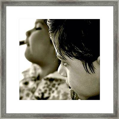 I Kept This As Is. :) These #kids Are Framed Print