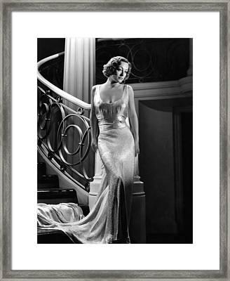 I Live My Life, Joan Crawford Wearing Framed Print by Everett