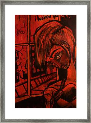 I Locked You Out Framed Print by Aaron Smith