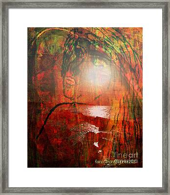 I Look To You  - Unmixed Sight Unmixed Faith Framed Print by Fania Simon