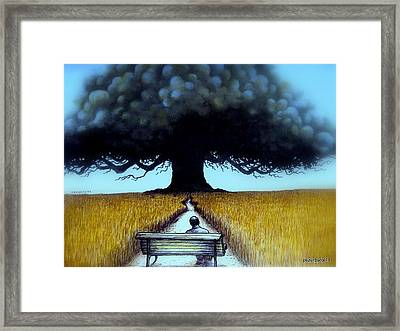 I Looked At The Abandoned Tree And I Not Saw Nests Neither Birds Framed Print