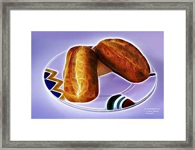 I Love Bread Framed Print