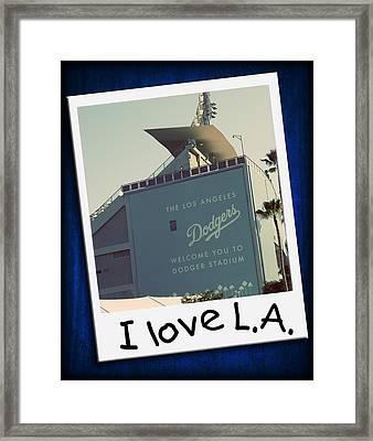 I Love La Framed Print