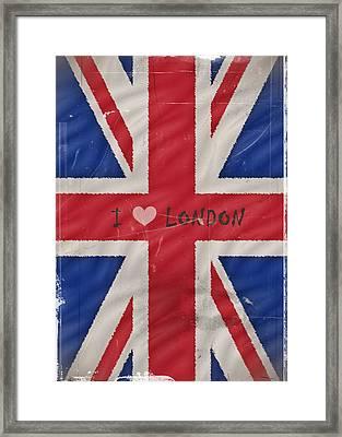 I Love London Framed Print by Sharon Lisa Clarke