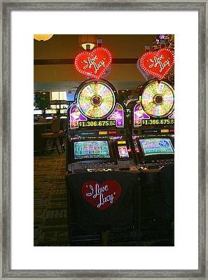 I Love Lucy To Gamble With Framed Print by Kym Backland