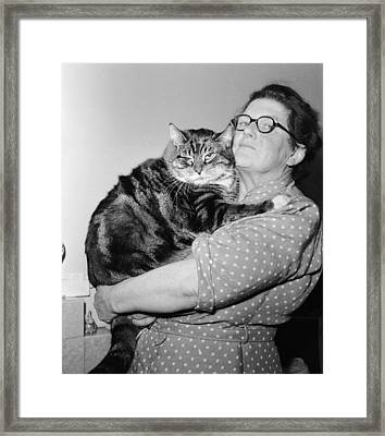 I Love My Big Cat Framed Print by Harry Cape