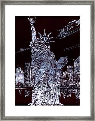 I Love Nyc Framed Print by Saad Hasnain