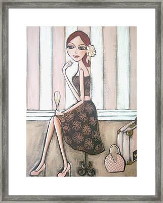 I Love Paris Framed Print by Denise Daffara