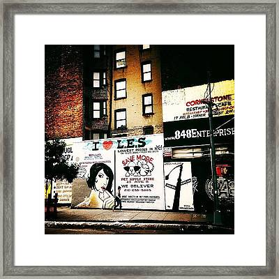 I Love The Lower East Side - New York City Framed Print