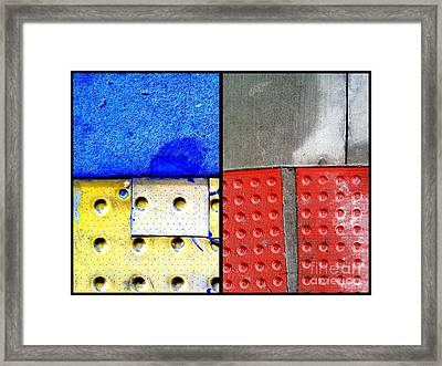 I Luv Hue Four Framed Print by Marlene Burns